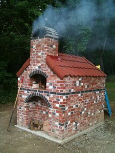another outdoor oven. isn't it beautiful? Diy Pizza Oven, Pizza Oven Outdoor, Outdoor Cooking, Pizza Ovens, Wood Oven, Wood Fired Oven, Outdoor Stove, Outdoor Dining, Oven Design