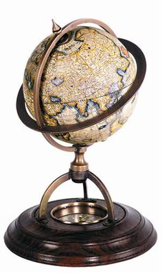 The original maps used for the set of Terrestrial and Celestial maps were drawn by Gerardus Mercator in 1541 and were revolutionary in that age and time. This globe features a wooden stand as well as a compass to know the direction. Get 15% off $55.99