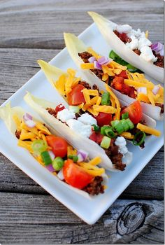 Endive Taco Boats - Use gluten-free homemade taco seasoning instead of store-bought - so easy to make and no additives! #glutenfree | iowagirleats.com