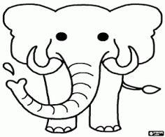 kleurplaat olifant kleurplaten nl school colouring