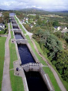 Neptune's Staircase - Caledonian Canal, Scotland. The Canal that Connects the East Coast at Inverness with the West Coast at Corpach, near Fort William. Built Circa 1803-1822.