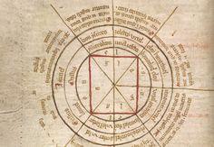 Diagram of a magic circle for summoning spirits of the air agla medieval-magic-diagram.png (763×527)