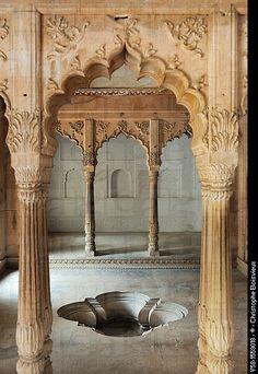 Rajasthan, Bharatpur, Lohagarh fort, Royal bath