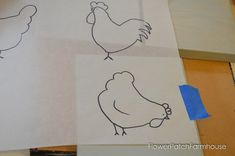 How to Paint Fun Chickens, an easy to paint tutorial in acrylics. Great for DIY decor, crafts, kids art projects. Chicken Drawing, Chicken Painting, Acrylic Painting Tips, Pencil Painting, Diy Home Crafts, Decor Crafts, Hand Crafts, Dog Treat Jar, Flower Patch