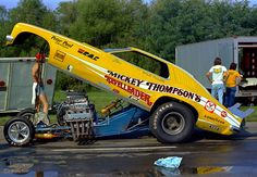Mickey Thompson's Pontiac Gram Nd Am 'Reveleader' funny car, early 70's