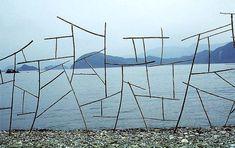 Bamboo Sculpture by Andy Goldsworthy  November 1987, Kinagashima-Cho, Japan  www.sculpture.org.uk