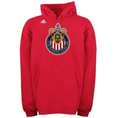 Soccer adidas Club Deportivo Chivas USA Red Team Logo Fleece Hooded Sweatshirt