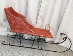 Antique Childs Wooden Sled