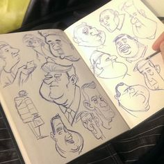 Doing some people sketches in the train. Also tried one trump caricature, altough i think his nose is too long.  #illustration #sketchbook #instaart #draw #drawing #tekenen #dailyart #penart #trump