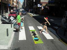 Orbit Street marketing en un paso de peatones