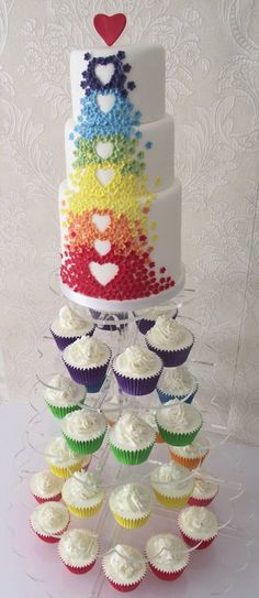 Rainbow cake. - by Fatcakes @ CakesDecor.com - cake decorating website (Just because it's so pretty)