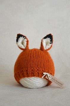 A personal favorite from my Etsy shop https://www.etsy.com/listing/229213686/fox-hat-newborn-3-months-newborn-fox-hat