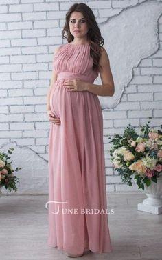 c50de1455 Vestidos para mujeres embarazadas para baby shower - Vestidos largos ...