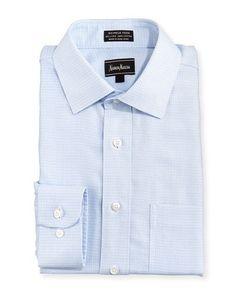 Classic-Fit Non-Iron Dress Shirt, Blue