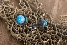 Turquoise Cup Earrings  by Chase Gilbert @ cgilly.com