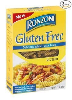 Ronzoni Gluten Free Rotini Pasta (3 Pack)  Price: 15,75 $  https://www.amazon.com/gp/product/B00PF0LJN2/ref=as_li_qf_sp_asin_il_tl?ie=UTF8&tag=bestselle0b0f-20&camp=1789&creative=9325&linkCode=as2&creativeASIN=B00PF0LJN2&linkId=769eef3146b9c248b9ad28df9d67cdda