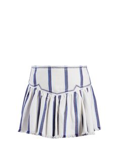 Click here to buy Isabel Marant Étoile Delia gathered striped skirt at MATCHESFASHION.COM