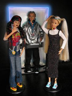 Generation Girls Dance Party Barbie Dolls (Mari, Blaine, & Tori) circa 2000 by Mariko, via Flickr