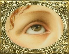 """""""Lover's Eyes - La Magadelena (after Titian),"""" Tabitha Vevers. Oil on ivorine. Artist Bio, Artist At Work, Lovers Eyes, Miniature Portraits, Look Into My Eyes, Mourning Jewelry, Victorian Art, Eye Jewelry, Looking For Love"""