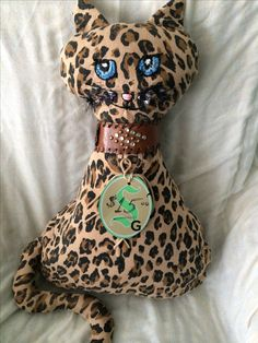 Stuffed cat $15