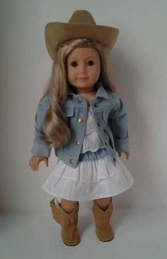 Cowgirl outfit for 18 inch dolls