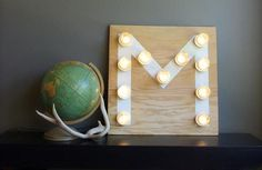 If you're looking to take a truly unique approach to your Mason jar gift, you'll love this ingenious monogram light from Oleander and Palm blogger Jeran McConnel.
