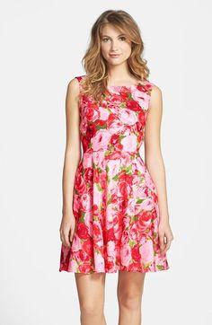 Betsey Johnson Floral Fit & Flare Dress available at #Nordstrom