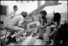 Burning Spear with Jack Ruby and studio musicians (ID?) at Randy's Studio 17, 1976. Photo by David Burnett