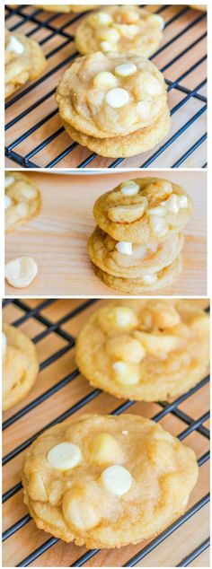 Super Chunk Macadamia Nut Cookies - the chewiest, chunkiest, softest version of the classic cookie!