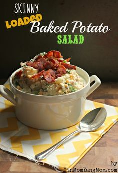 Healthy Loaded Baked Potato Salad via @Shelley Parker Herke Parker Herke corona YangMom Allie
