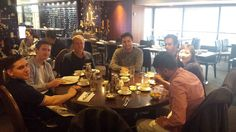 Breakfast with the Touch Team. (Some folk missing Lost in action)