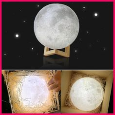 3d Moon Lamp Usb Led Night Moonlight Lamp Touch Sensor Color Changing Night Light 8 20cmcm Christmas Lampara De Luna Mond Lampe Nachtlicht Nachtleuchte