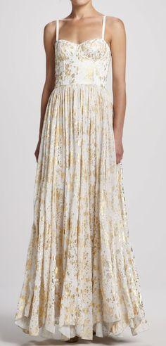 Gold flecks gown