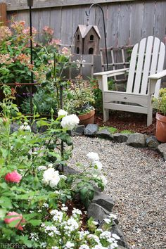 The Inspired Room Secret Garden - Backyard with Adirondack Chair