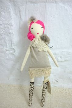 Handmade Rag Dolls by Gaiia Kim Limited Édition Haute Couture No 31.