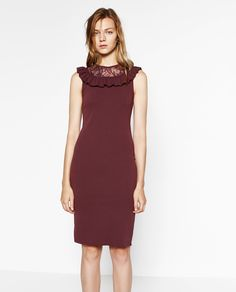 Image 2 of DRESS WITH FRILL from Zara