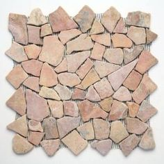 Solistone Indonesian Sumatra Red 12 in. x 12 in. Natural Stone Pebble Floor and Wall Tile (10 sq. ft. / case)-6003 at The Home Depot