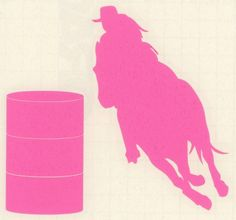 Sm Pink Barrel Racer Racing Horse Rodeo Gaming Cowgirl Trailer Truck Decal
