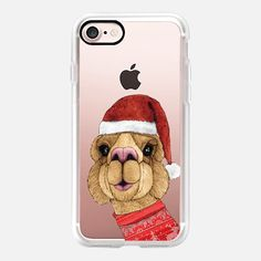 Casetify iPhone 7 Case and Other iPhone Covers - Alpaca Christmas by Barruf   #casetify #alpaca #christmas #iphone #animal #accessories