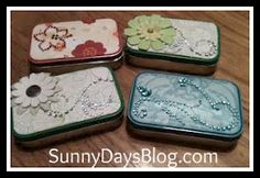 Secretaries will appreciate these decorated Altoid tins (filled with goodies, of course!) on their special day tin boxes, gift boxes, business cards, gift cards, card holder, recycled crafts, altoids tins, card boxes, second grade