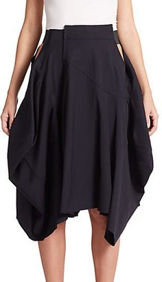 Comme des Garcons Draped Wool Skirt