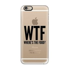 WTF Where's The Food? iPhone 7 Case, iPhone 7 Plus Case, iPhone 7 ❤ liked on Polyvore featuring accessories and tech accessories
