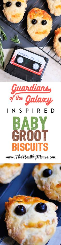 Guardians of the Galaxy inspired recipe: Baby Groot biscuits are the perfect combination of adorable and tasty. An easy Disney food art recipe! Super Hero Food, Shapes Biscuits, Bite Size Food, Tasty, Yummy Food, Delicious Recipes, Healthy Recipes, Homemade Brownies