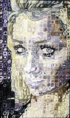 Chuck Clossey - Really cool grid portrait drawings