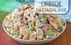 Een pastasalade met de smaken van de Cariben: krab, mango en madame Jeanette peper! Deze salade is koud het lekkerst. Maak hem een dag van tevoren, zodat de smaken goed kunnen mengen. Dit recept is…