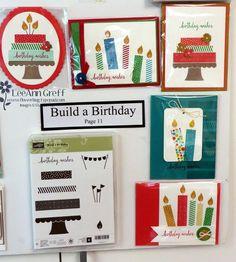 Build a Birthday; New Catalog sample boards from Flowerbug's Inkspot