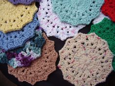 10 Large Facial Scrubbies Small Washcloth Baby or Adult