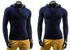 LT 011 - GRANATOWY GRANATOWY | On \ Swetry męskie | Denley - Odzieżowy Sklep internetowy | Odzież | Ubrania | Płaszcze | Kurtki