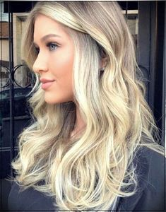 43 trending blonde highlights for long hair in 2018 haare und frisuren окра Blonde Hair With Highlights, Hair Color Balayage, Blonde Balayage, Blonde Color, Blonde Ombre, Ash Blonde, Trending Hairstyles, Fall Hair, Pink Hair