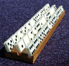 Mexican Train Domino Holders, 4-pack. $13.99, via Etsy.